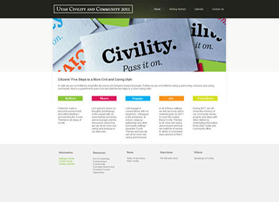 Utah Civility Website - Designed by James Hooper
