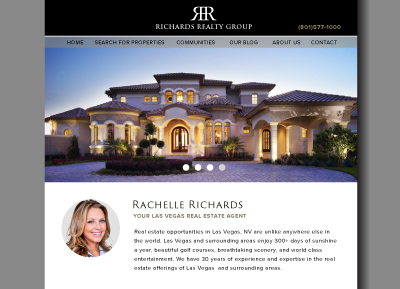 Las Vegas Real Estate Website - Designed by James Hooper