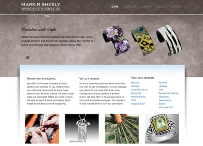 Mark R Sheely Jewelery Website - Designed by James Hooper